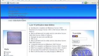 Windows Server 2003 - Instalación de Internet Information services IIS