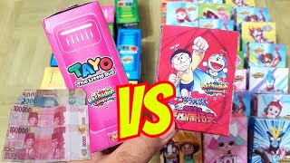WOW!! HADIAH UANGNYA BIKIN DOMPET GEMBUL!!! KOTAK MISTERI DOANK vs TAYO
