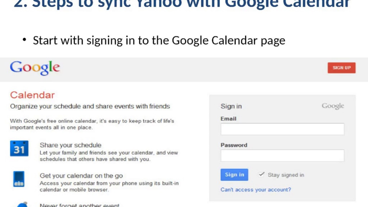 Sync Your Yahoo Calendar with Android