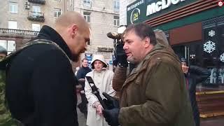 Полное видео нападения Быка на Руслана Коцабу в Киеве