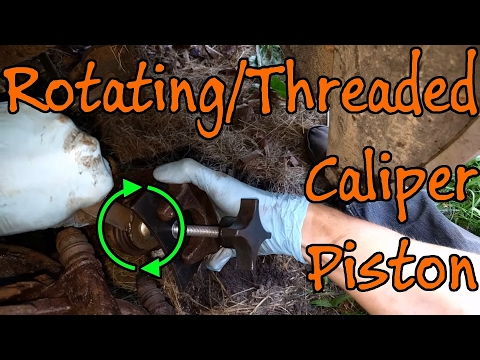 How To Compress Screw In Brake Caliper Pistons With Homemade Tools