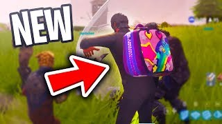 "*NEW* ""RAINBOW BACK PACK"" Coming to Fortnite Battle Royale (Back Bling Gameplay)"