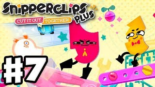 Snipperclips Plus - Gameplay Walkthrough Part 7 - Toybox Toys! (Nintendo Switch)