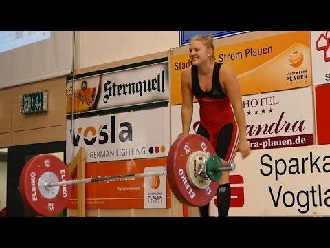 Frauen 75kg Deutsche Meisterschaft Gewichtheben 2016 Plauen
