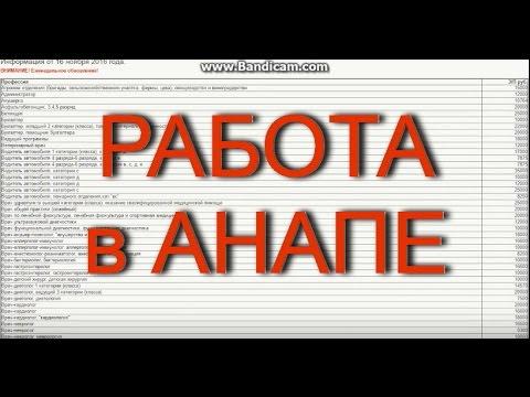 РАБОТА в АНАПЕ. Список вакансий на 16.11.2016 года. По данным Центра занятости населения.