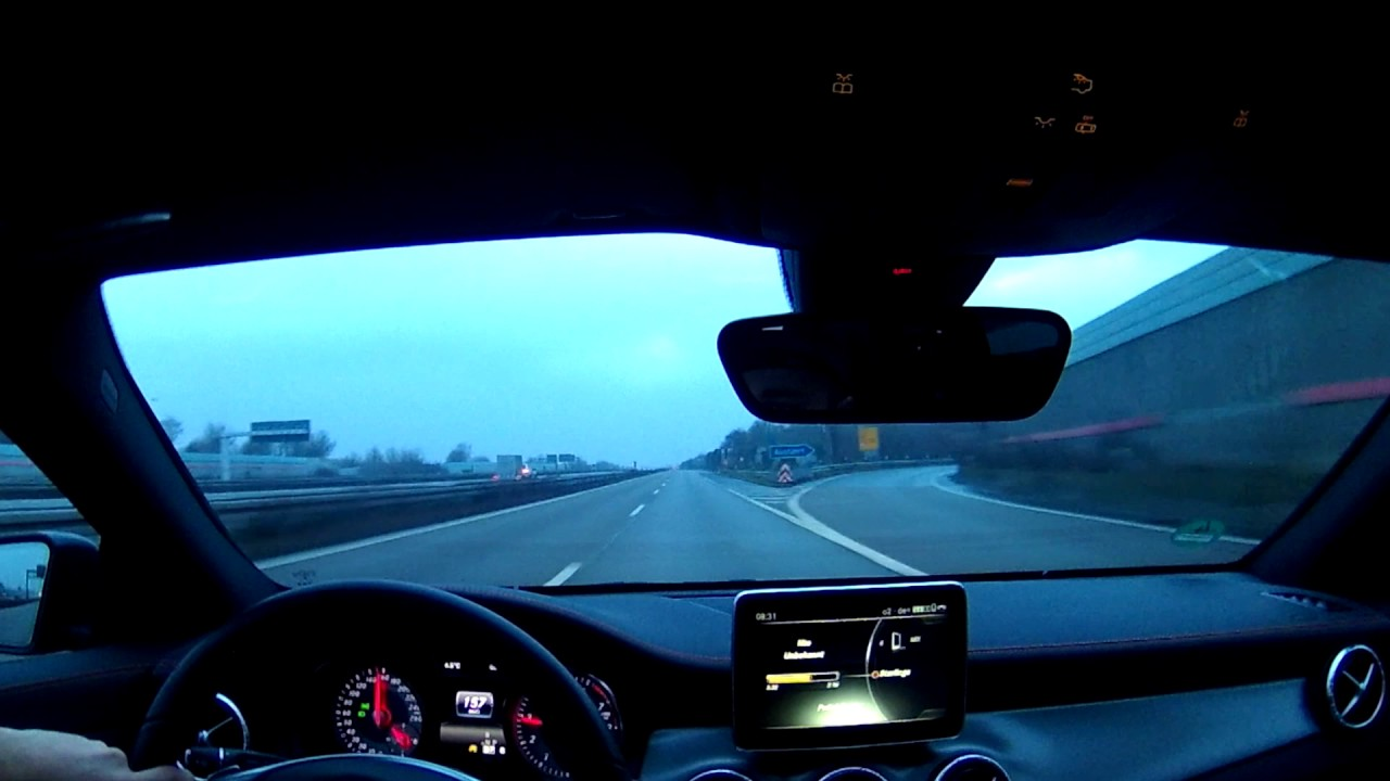 mercedes cla 200 sb driving on autobahn a45 to a2 dortmund to beckum part 1 3 youtube. Black Bedroom Furniture Sets. Home Design Ideas