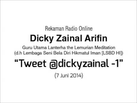 Radio Online Dicky Zainal Arifin: Tweet @dickyzainal (Bag 1) 7 Juni 2014