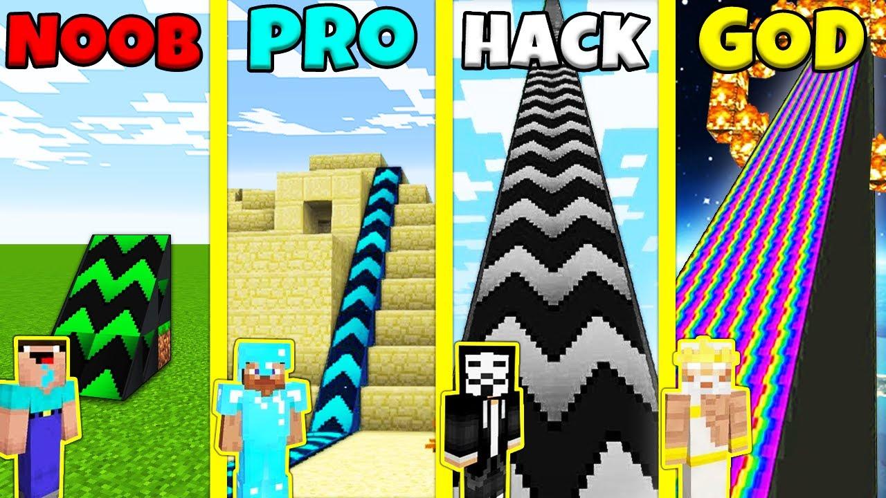 Minecraft Battle: SUPER RAMP BUILD CHALLENGE - NOOB vs PRO vs GOD / Animation