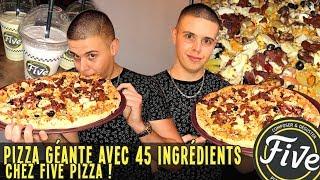 PIZZA GÉANTE avec 45 INGRÉDIENTS chez FIVE PIZZA !!!