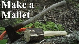Bushcraft Mallet With An Axe And Saw