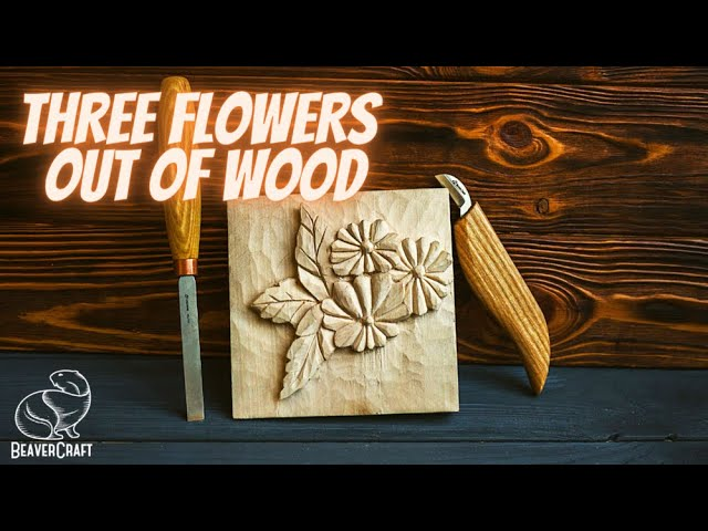 Wood Carving Ideas - Flower Relief Carving