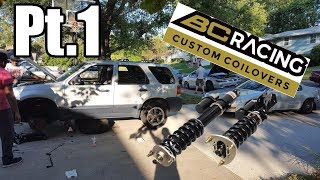 Installing BC Racing coilovers on the SVT Escape [pt. 1]