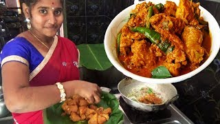 Traditional Girl Cooking Spicy Chicken Curry Recipe Andra Style | How to Prepare Chicken Curry