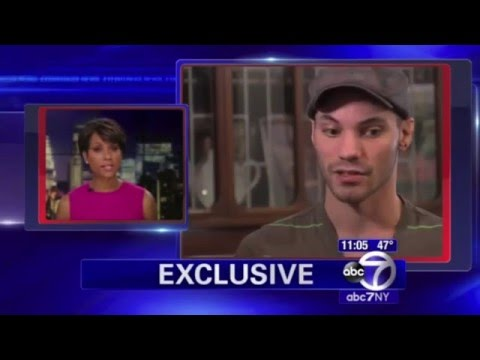 NYC Gay Hate Crime Victim s with ABC7NY