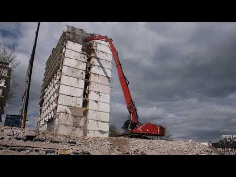 Hitachi ZX 870-3 Kocurek high reach demolition excavator, Koole B.V.