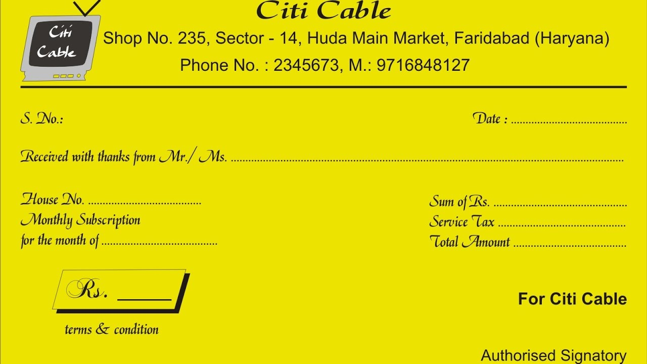 How To Make Receipt Book Corel Draw In Hindi Youtube