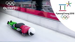 Nigeria's Simidele Adeagbo prepares for Skeleton race | Winter Olympics 2018 | PyeongChang