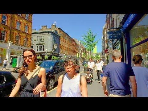 LONDON WALK In MARYLEBONE From James Street To Marylebone High Street | England
