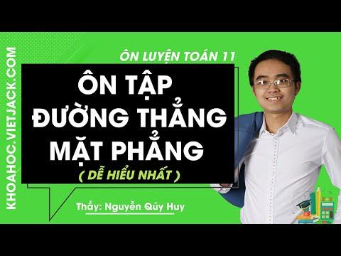 Ôn luyện Đường thẳng và mặt phẳng – Ôn luyện Toán 11 – Thầy Nguyễn Qúy Huy (HAY NHẤT)