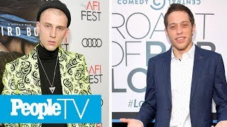 Pete Davidson Seen With Machine Gun Kelly After Troubling Social Media Note | PeopleTV