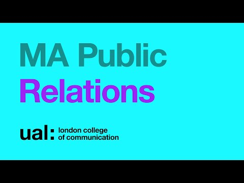 MA Public Relations online Open Day