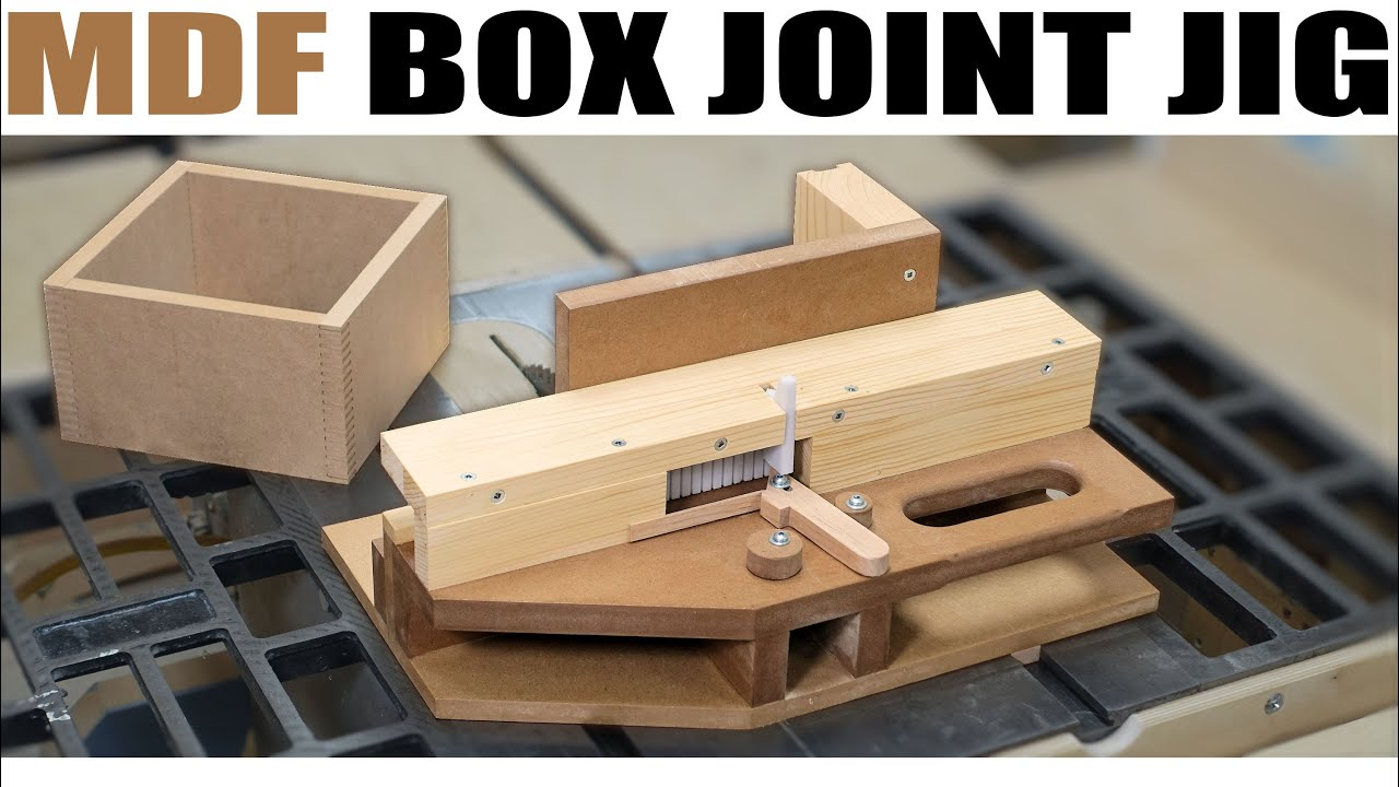 How To Make The Advanced Box Joint Jig From Mdf Youtube