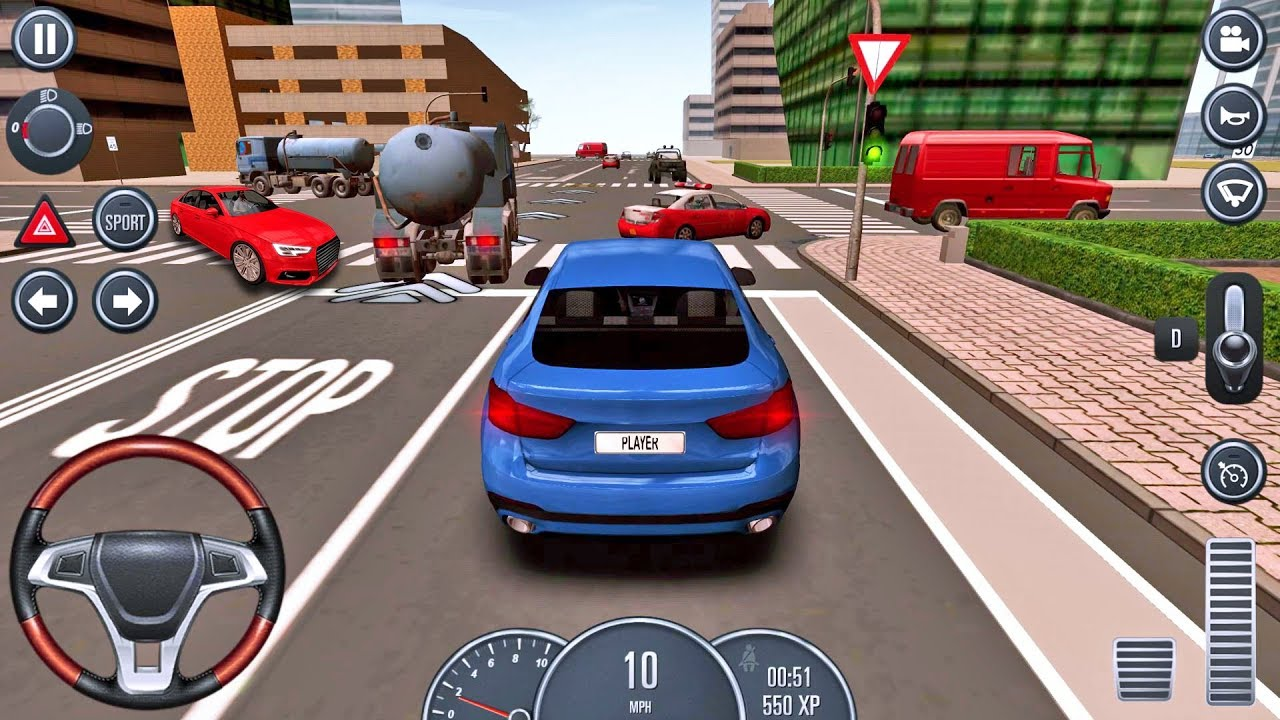 Car Games 2016 >> Driving School 2016 3 Cars Game By Ovidiu Pop Android Ios Gameplay