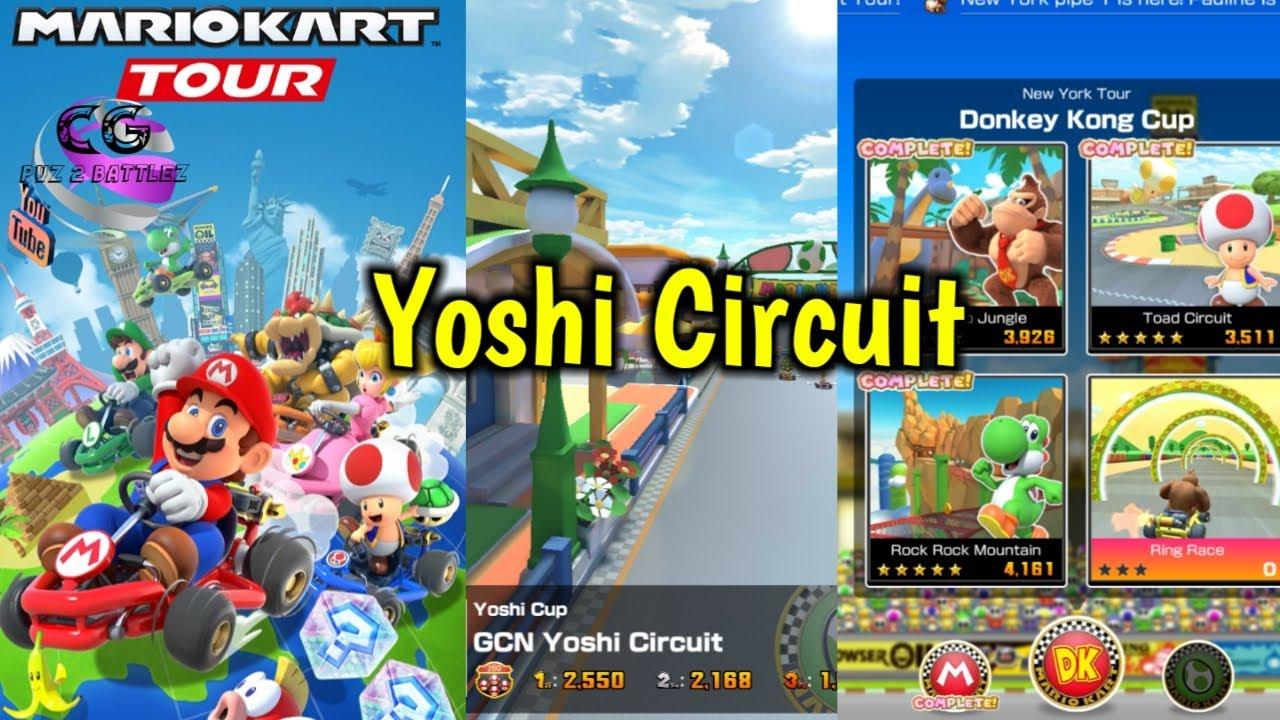 mario kart tour yoshi circuit  youtube