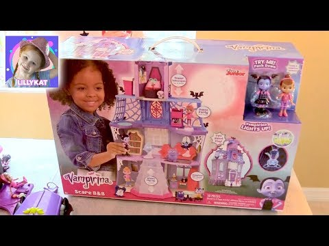 Lillykat Unboxes Vampirina Scare B&B Castle & Plays With All The Vampirina Characters