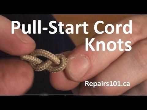 Pull-Start Cord Knots - effective stopper knots