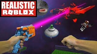 Realistic Roblox - Galactic Golf obby | ESCAPE THE EVIL ALIENS IN ROBLOX (DENIS OBBY)