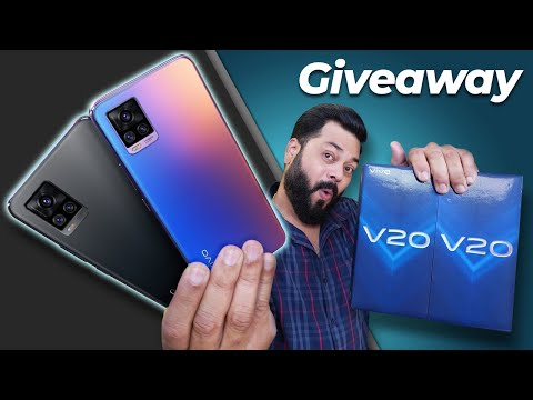 vivo V20 Unboxing And First Impressions | 2x Giveaway ⚡⚡⚡ 7.38mm, 44MP Eye AF, 64MP Camera & More