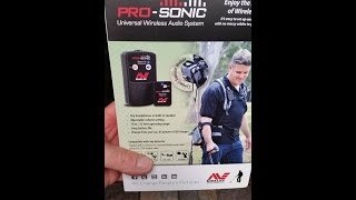 Gambar cover Minelab Pro-Sonic wireless audio system