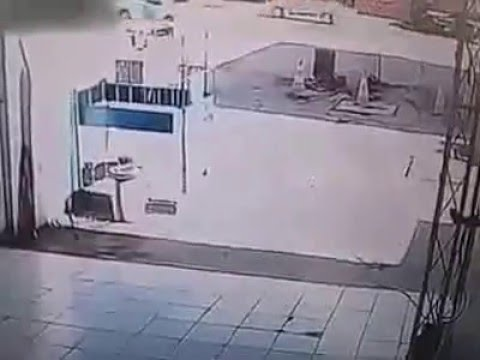 Fuel tank explosion launches worker to the top like a rocket