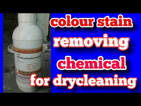 colour stain removing chemical for dry cleaning (hindi)