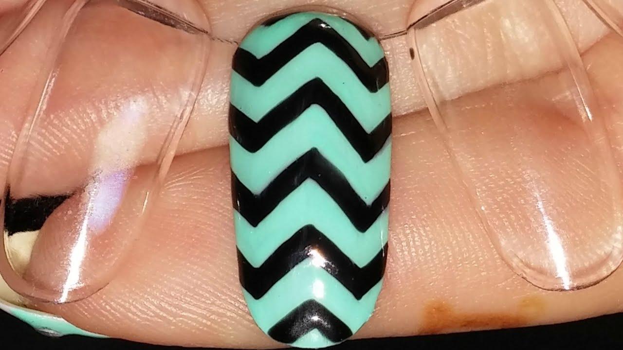 Nail art basics chevronzig zag design gel nail polish youtube nail art basics chevronzig zag design gel nail polish prinsesfo Images