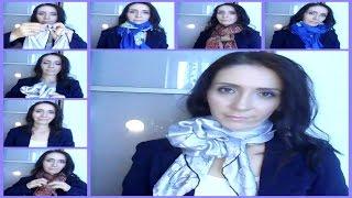 Как красиво завязать шарф или платок разными способами(Всем привет. В этом видео я покажу шаг за шагом, как красиво завязать шарф или платок на шее, чтобы вы всегда..., 2016-08-31T12:40:09.000Z)