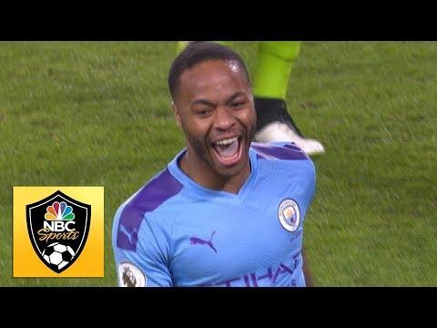 Raheem Sterling Puts 10-man Man City In Front V. Wolves | Premier League | NBC Sports