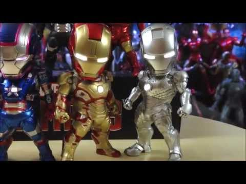 Kids Nation Iron Man 3 Series 2 - Iron Patriot, War Machine Mark I & II