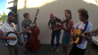 "Whiskey Shivers play ""Hometown Blues""  in my driveway"
