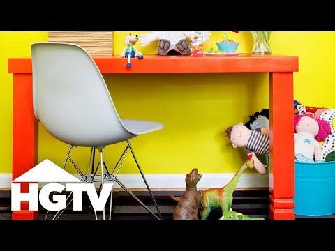 DIY Stair Post Kid's Desk - HGTV