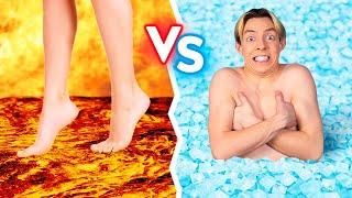 ชาเลนจ์อาหารร้อน ปะทะ อาหารเย็น    ใครหยุดกินคนสุดท้ายชนะ ! ไฟ VS น้ำแข็ง 24 ชม.โดย 123 GO! BOYS