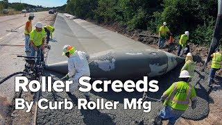 Concrete Roller Screeds by Curb Roller Mfg