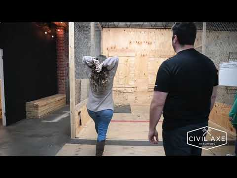 Axe Throwing with Civil Axe Birmingham