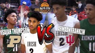 In State Rivalry Starts Before College | Purdue Commit Isaiah Thompson vs IU Commit Armaan Franklin