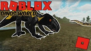 Roblox Dinos World - INDORAPTOR? + Playing As DIabloceratops (A New Dinosaur Game)