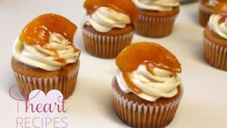 Peach Cobbler Cupcakes - I Heart Recipes