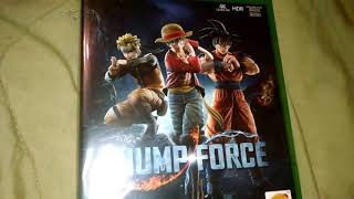 Jump force Xbox One video game Unboxing