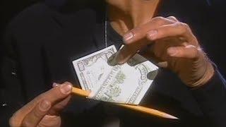 Дэвид Копперфильд - Фокус с купюрой и карандашом!