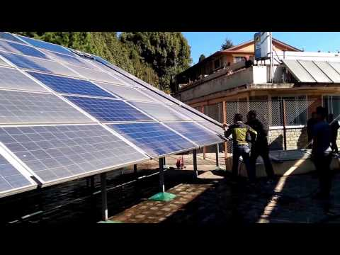Solar Panel Cleaning in Dhulikhel Hospital